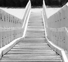 Bridge at Crescent Head Black & White by Backyard
