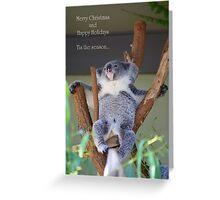 Aussie Christmas Card Greeting Card