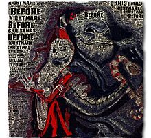 Nightmare Before Christmas - Text Print by Colin Bradley