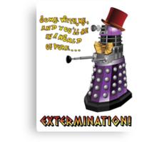 Willy Wonka Dalek Canvas Print