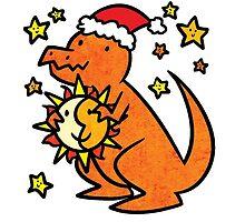 Christmas Dinosaur T-Rex by Brikit