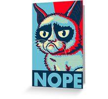 Nope Cat Greeting Card