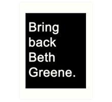 The Walking Dead - Beth Greene Art Print
