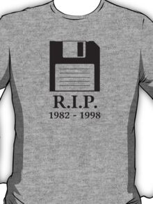 Rest in Peace RIP Floppy Disk T-Shirt