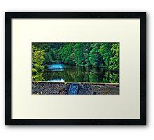 Waterfall at Minas Basin Pulp and Power Co   Framed Print