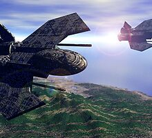 501st Phoenix In Flight by Curtiss Shaffer