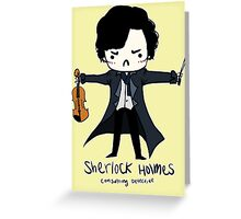 Sherlock is Not a Psychopath Greeting Card