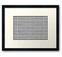 Punch Hole Grid Design Framed Print