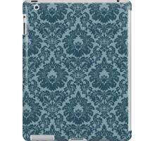 French Provincial Fleur De Lis in Blue iPad Case/Skin