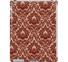 French Provincial Fleur De Lis Pattern in Wine iPad Case/Skin