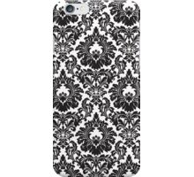 French Provincial Fleur De Lis in classic Black + White iPhone Case/Skin