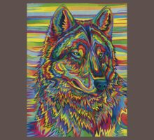 Psychedelic Wolf Kids Clothes