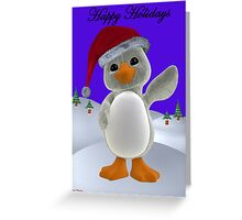 Holiday Penguin Greeting Card