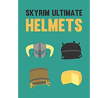 Skyrim ultimate helmets Photographic Print