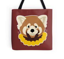 Floral Red Panda Tote Bag