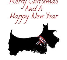 Scottie Dog 'Merry Christmas & a Happy New Year' by archyscottie