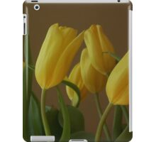 Yellow, My Favorite Tulips iPad Case/Skin
