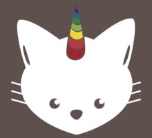 Unicorn Cat with Rainbow Horn by Andy Erikson