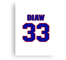 Basketball player Boris Diaw jersey 33 Canvas Print