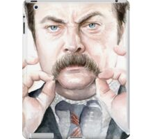 Ron Swanson Portrait iPad Case/Skin