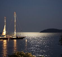 Full Moon @ Skiathos Island by Andreas Theologitis