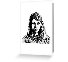 Sylvia Plath Digital Art Design Greeting Card
