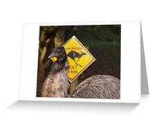 Kangaroos Next 14 km Greeting Card