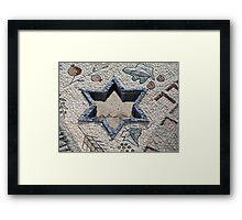 Star of David  in mosaic - Judaism Framed Print