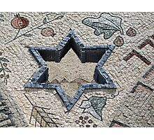 Star of David  in mosaic - Judaism Photographic Print