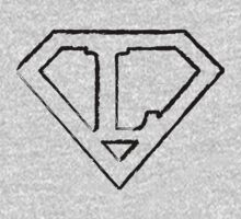 L letter in Superman style Kids Clothes