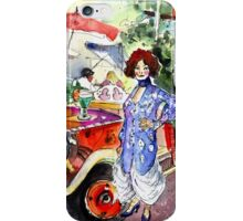 The Klimt Girl In A Ruin Bar In Budapest iPhone Case/Skin