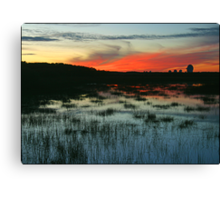 Goonhilly sunset ( AS IS ) Canvas Print