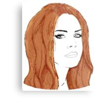 Lana Del Rey Digital Design Metal Print