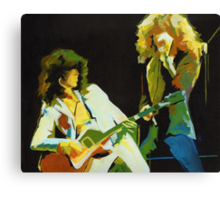 Just the Best. Robert Plant and Jimmy Page  Canvas Print
