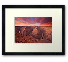 The Curves of Dawn Framed Print