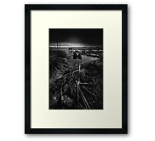 On the wrong side of the lake 16 Framed Print