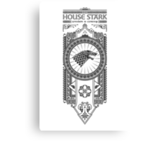 House Stark (Black) Canvas Print
