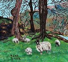 The Greens & Sheep of Yorkshire by Nira Dabush