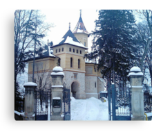 Church covered with snow Canvas Print