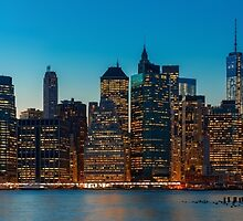 New York City skyline by Mikhail Palinchak