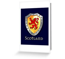 Scotland Lion Rampant Shield Greeting Card