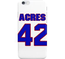Basketball player Mark Acres jersey 42 iPhone Case/Skin