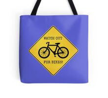 Watch Out For Bikes!! - Sticker Tote Bag