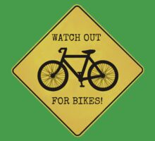 Watch Out For Bikes!! - Sticker Kids Clothes