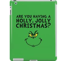A holly, jolly Christmas? iPad Case/Skin