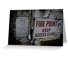In case of fire...... Greeting Card