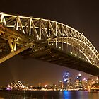 Harbour Bridge - Night by Philip Wong