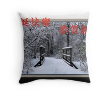 Chinese holiday greeting (Pro Bono holiday card) Throw Pillow