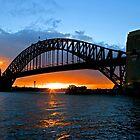 Harbor Bridge Sunset by John Karamanos