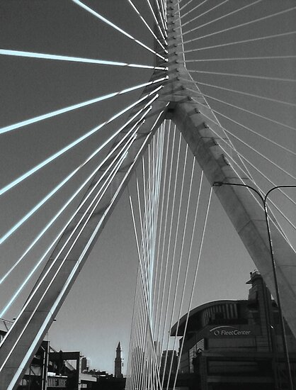 Zakim Bridge by Roslyn Lunetta